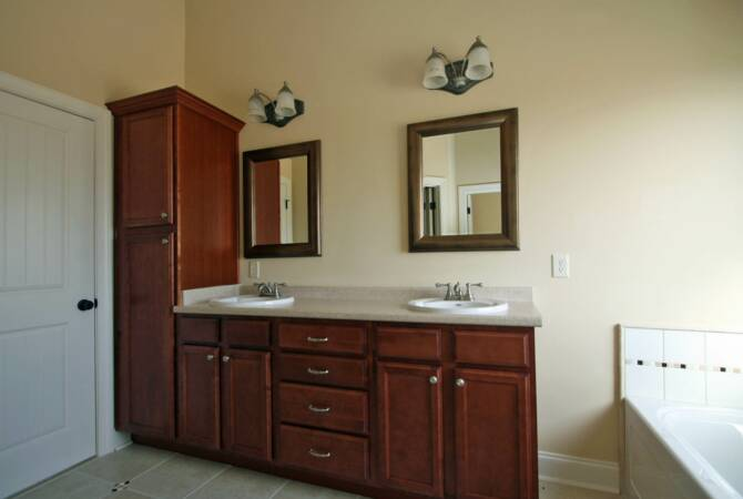 Fairway builders custom homes for Master bath vanities pictures